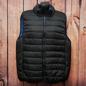 Pacific trail puffer vest medium blue black